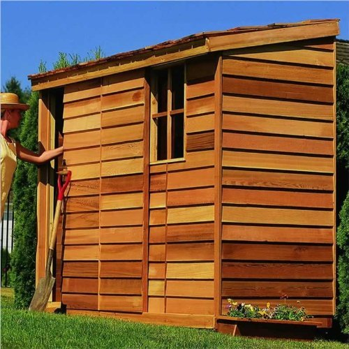 Cedar Shed 8 x 3 ft. Yardsaver Storage Shed
