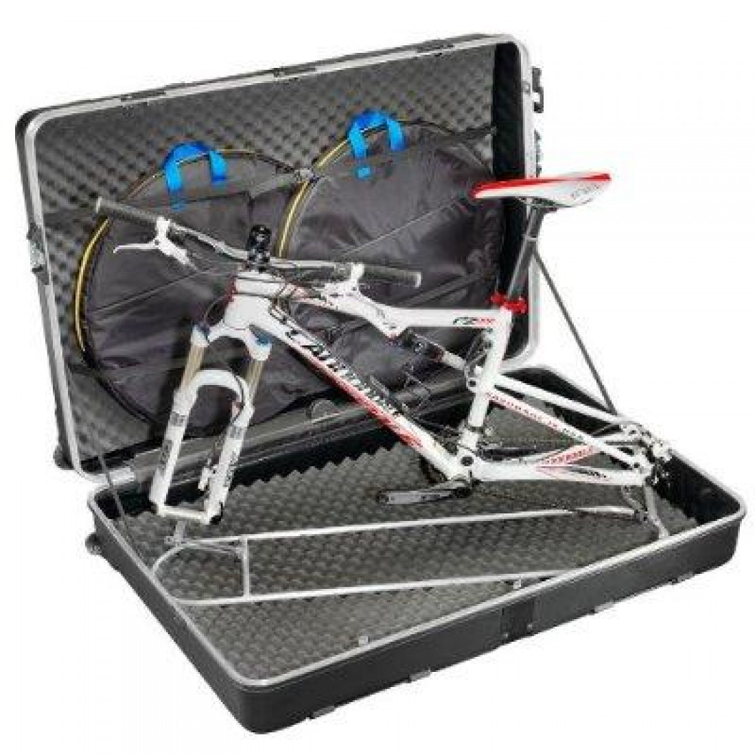 Rolling B&W Bicycle Travel Case