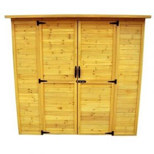 Leisure Season Extra Large Wood Shed (With Decay Resistant Coating)